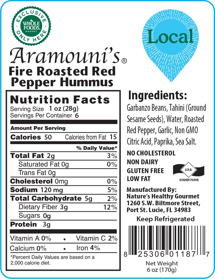 Aramouni's Fire Roasted Red Pepper Hummus
