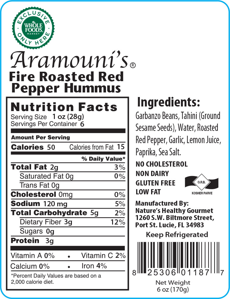 Aramouni's Fire Roasted Red Pepper Hummus