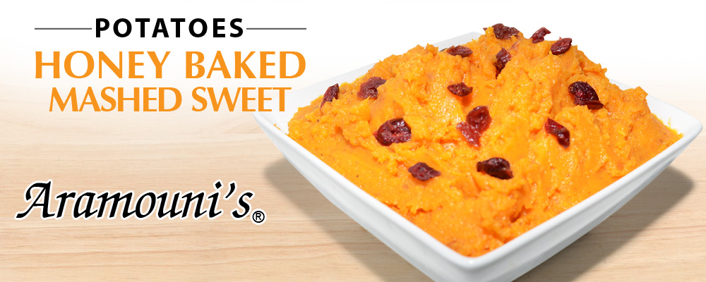 Honey-Baked-Mashed Sweet Potatoes - Aramouni's