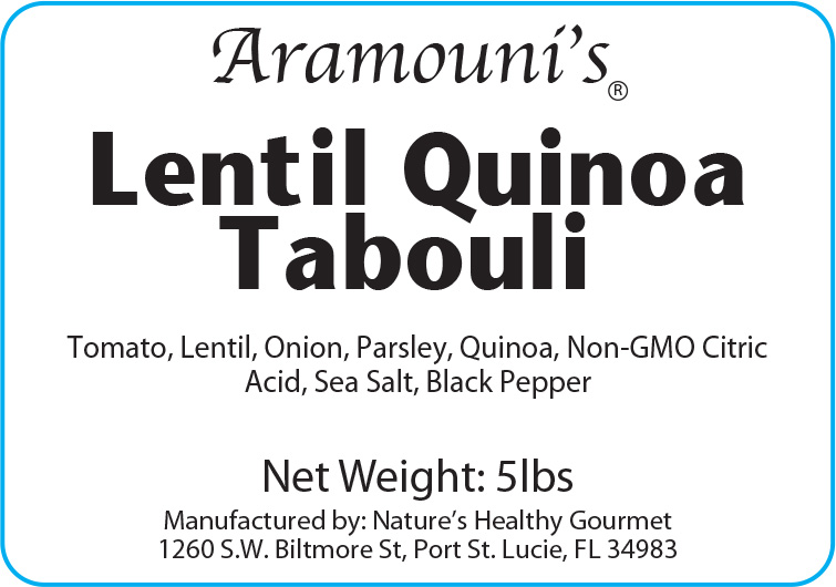 Aramouni's Lentil Quinoa Tabouli