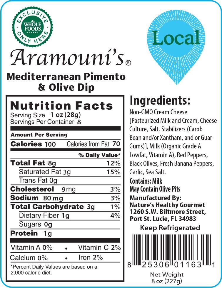 Aramouni's Mediterranean Pimento & Olive Dip