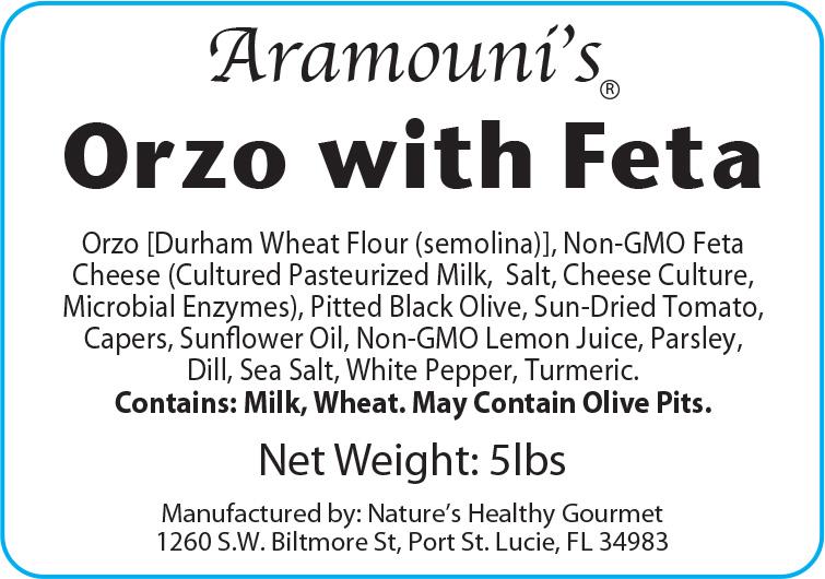 Aramouni's Orzo and Feta - Label