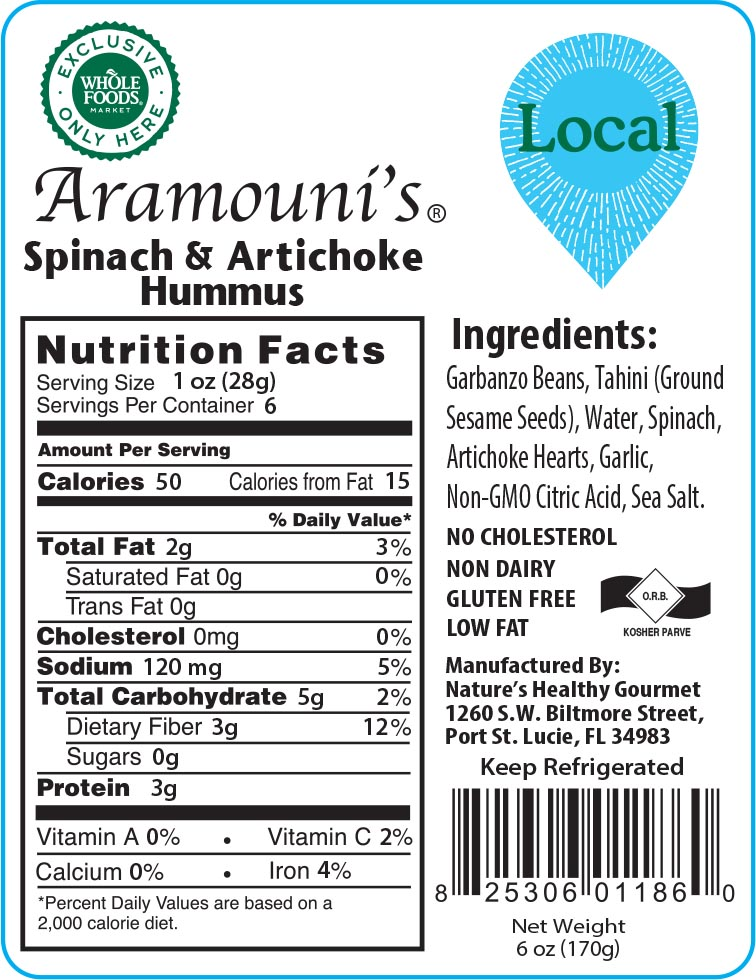 Aramouni's Spinach & Artichoke Hummus