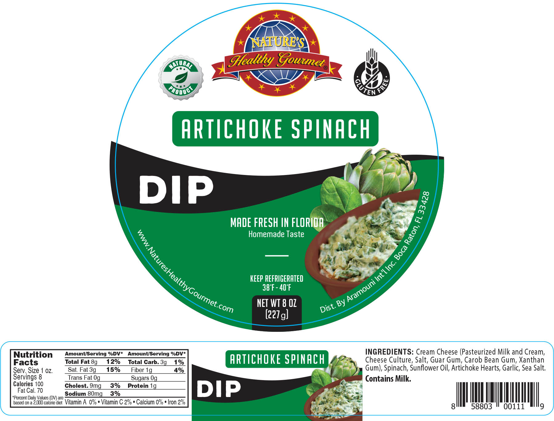 Nature's Artichoke Spinach Dip
