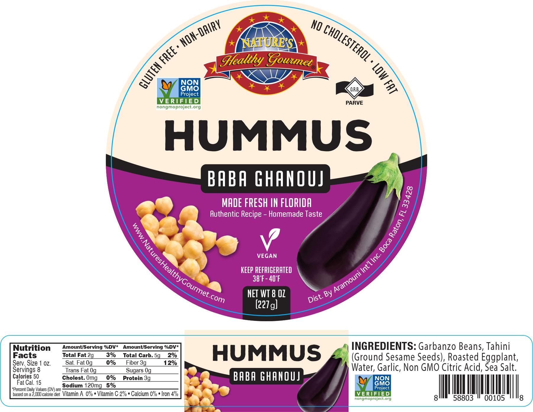 Nature's Baba Ghanouj Hummus