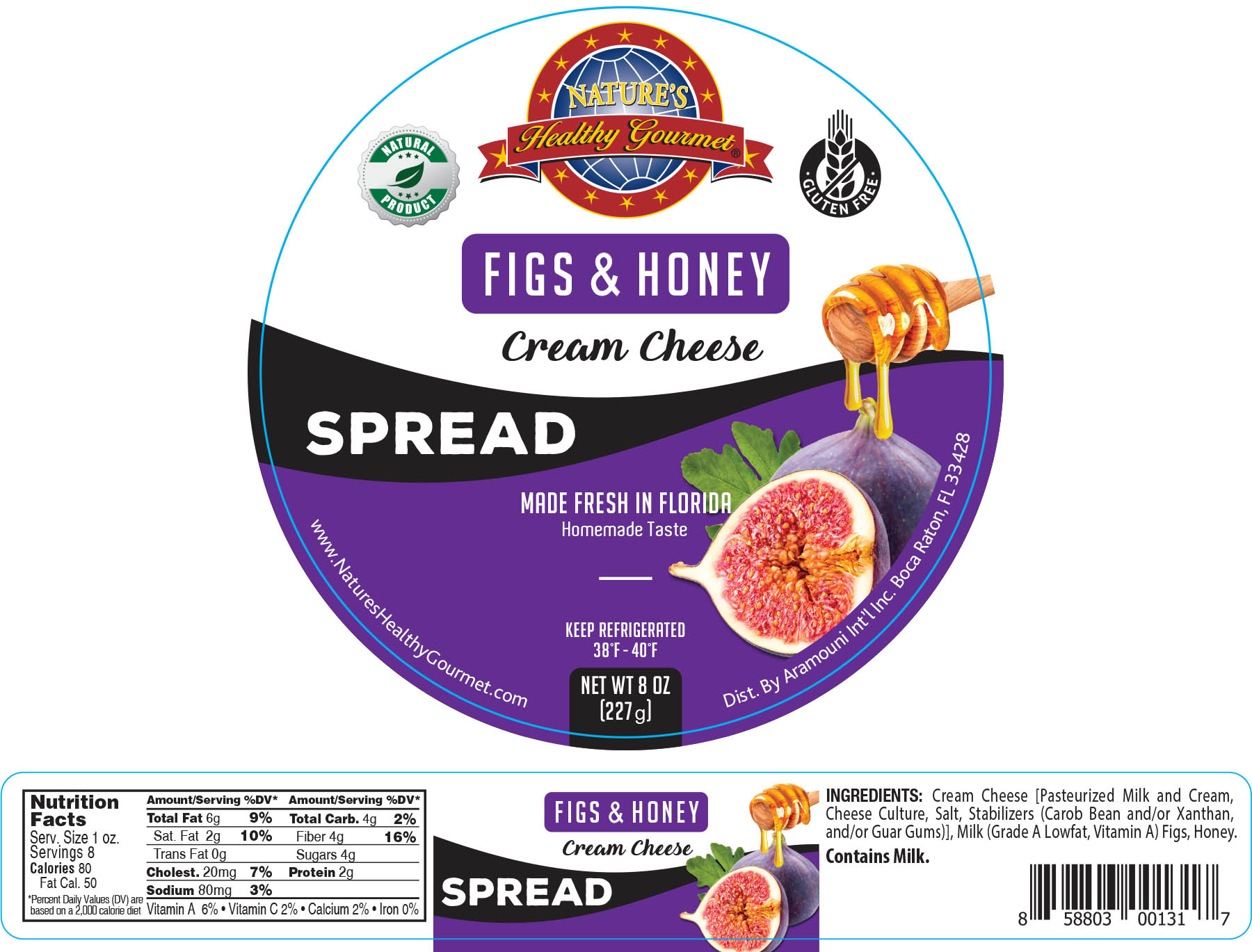 Nature's Figs and Honey Spread