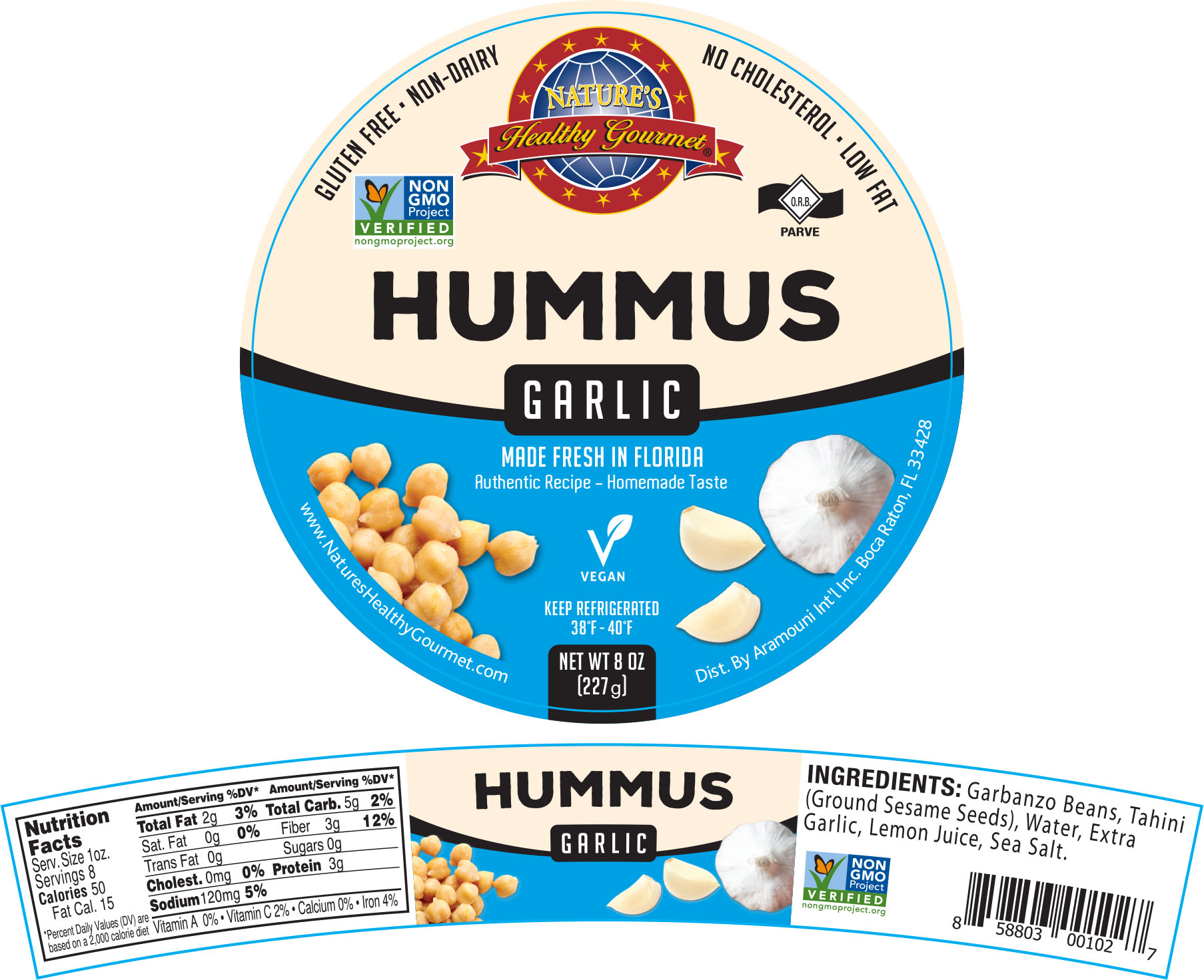 Nature's Garlic Hummus