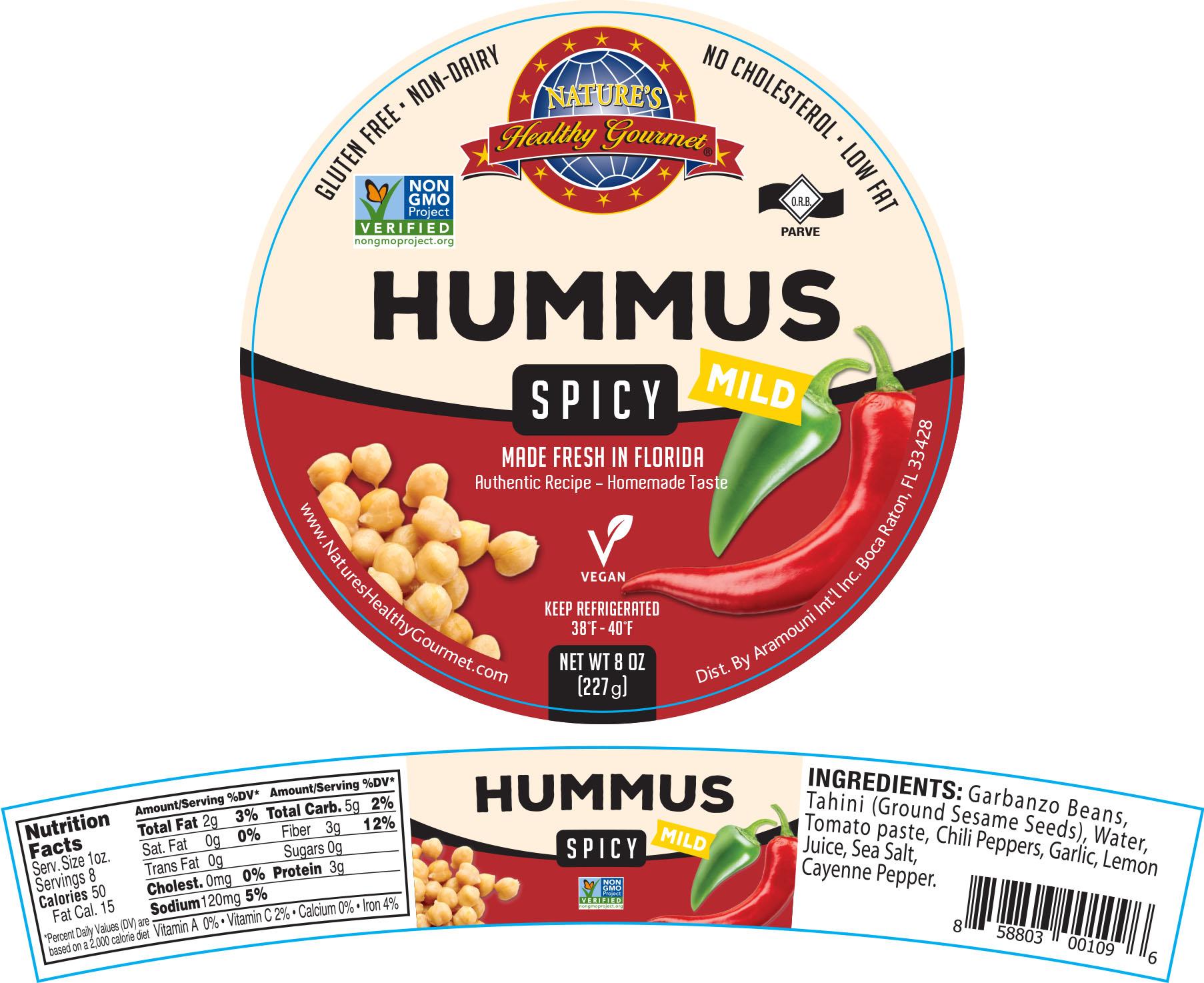 Nature's Mild Spicy Hummus