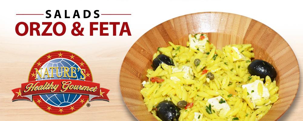 Orzo & Feta Salad Banner - Natures Healthy Gourmet