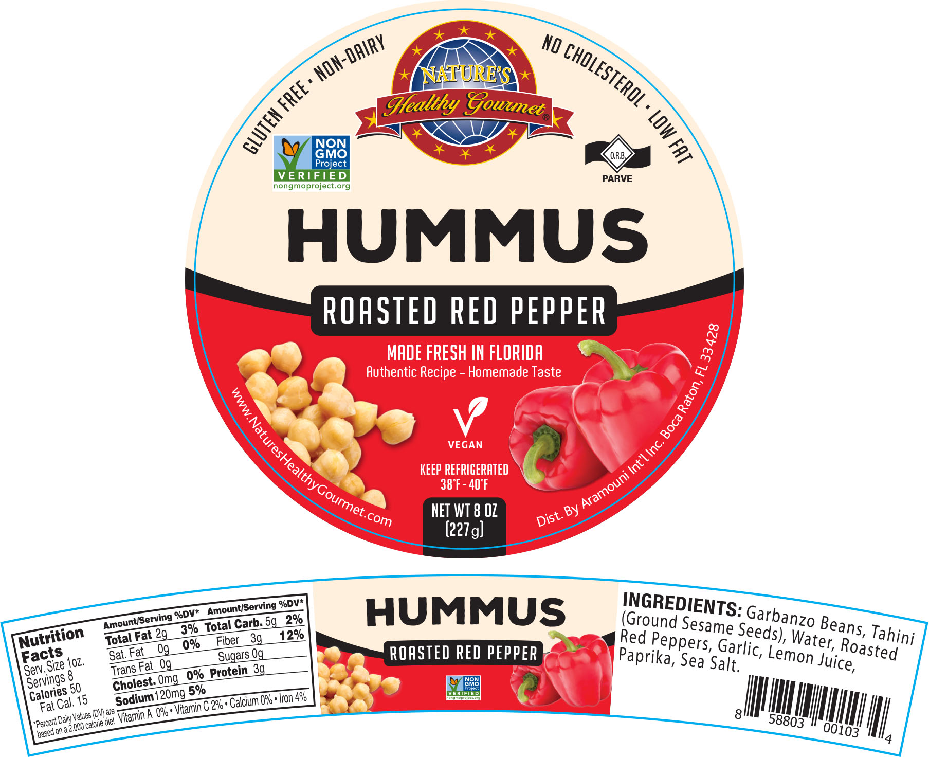 Nature's Roasted Red Pepper Hummus