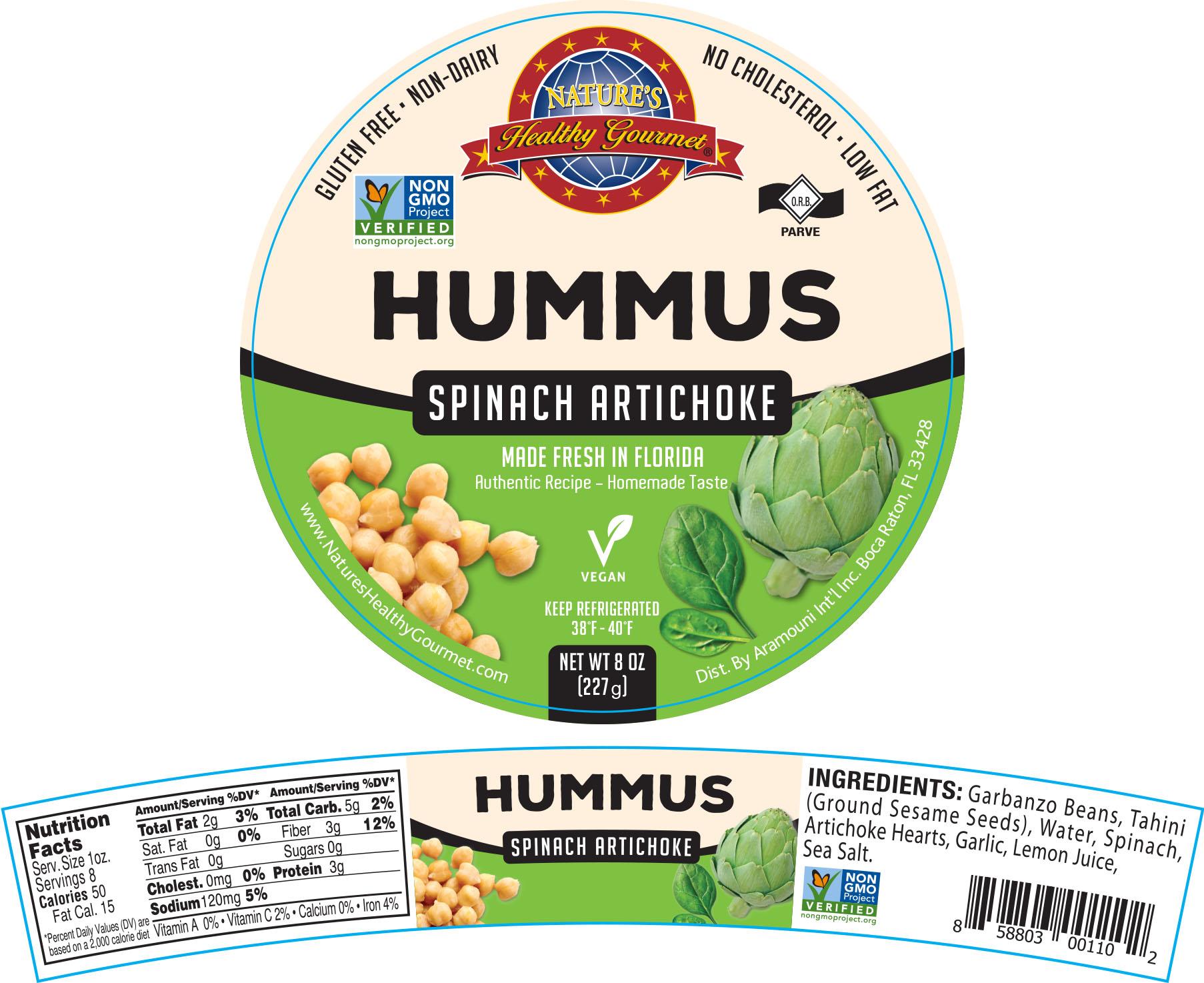 Nature's Spinach Artichoke Hummus