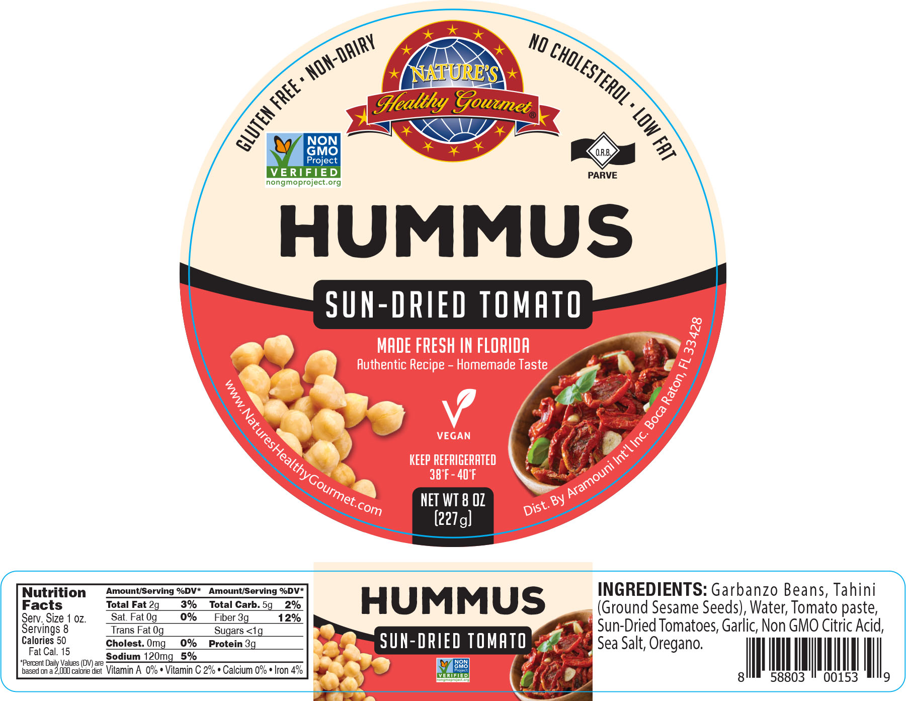 Nature's Sun-Dried Tomato Hummus