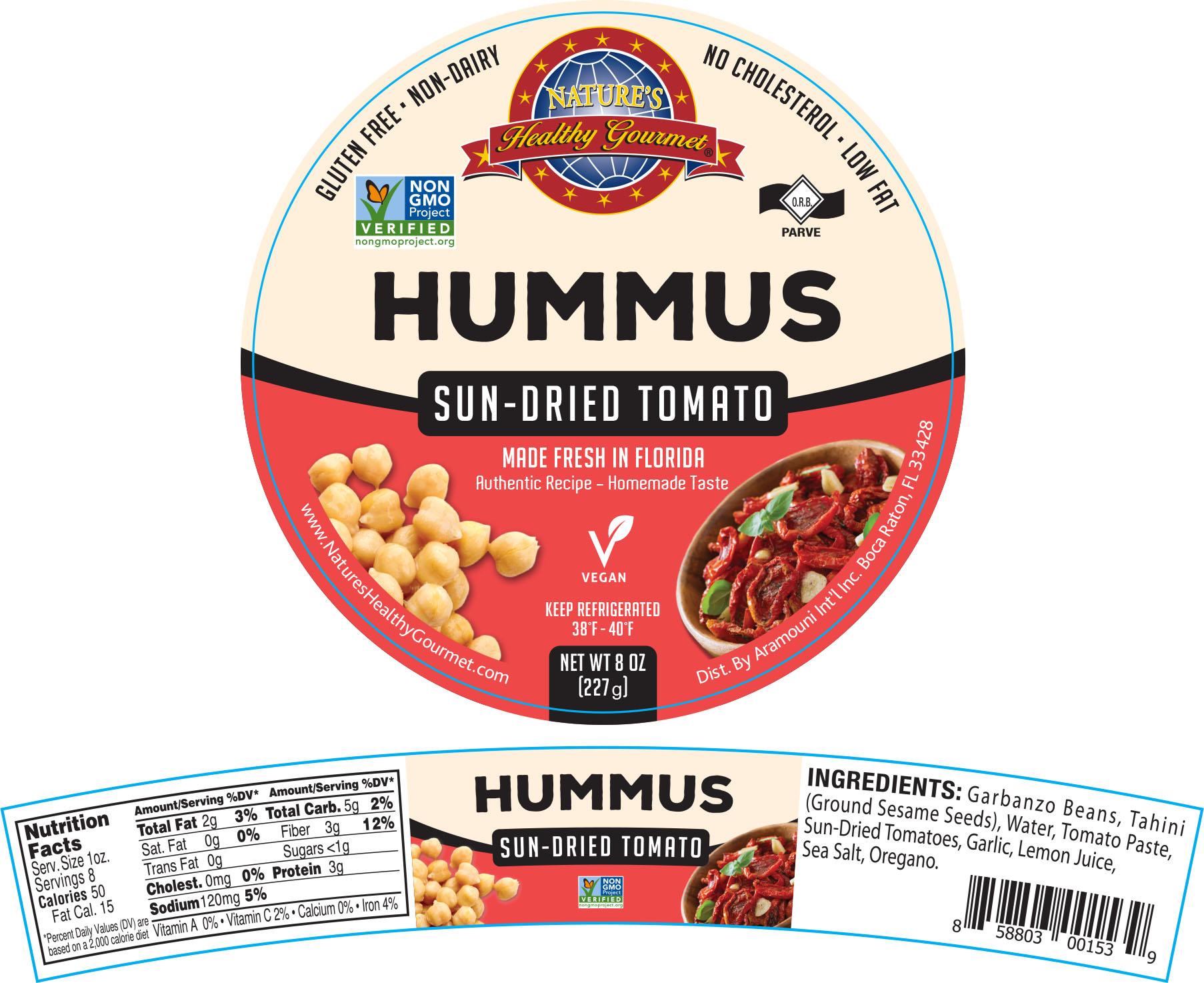 Nature's Sun Dried Tomato Hummus