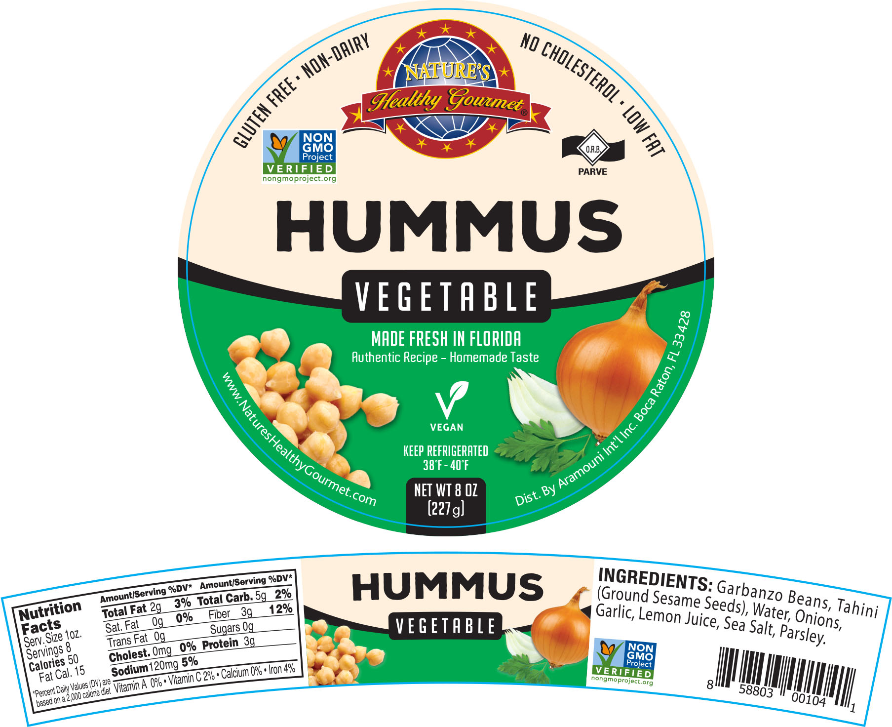 Nature's Vegetable Hummus