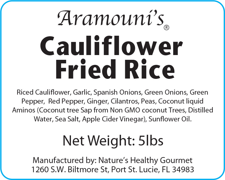 Cauliflower Fried Rice - Label