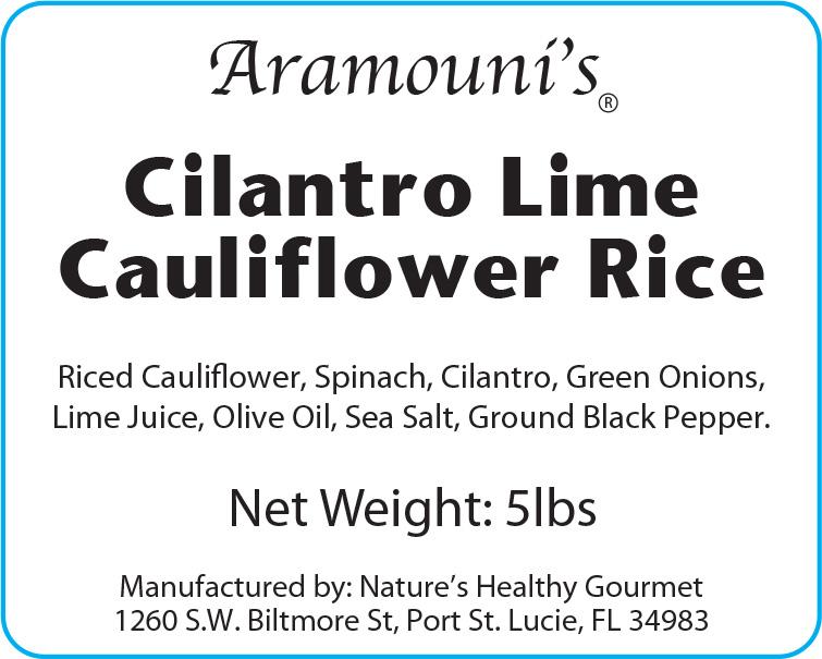 Cilantro Lime Cauliflower Rice - Label