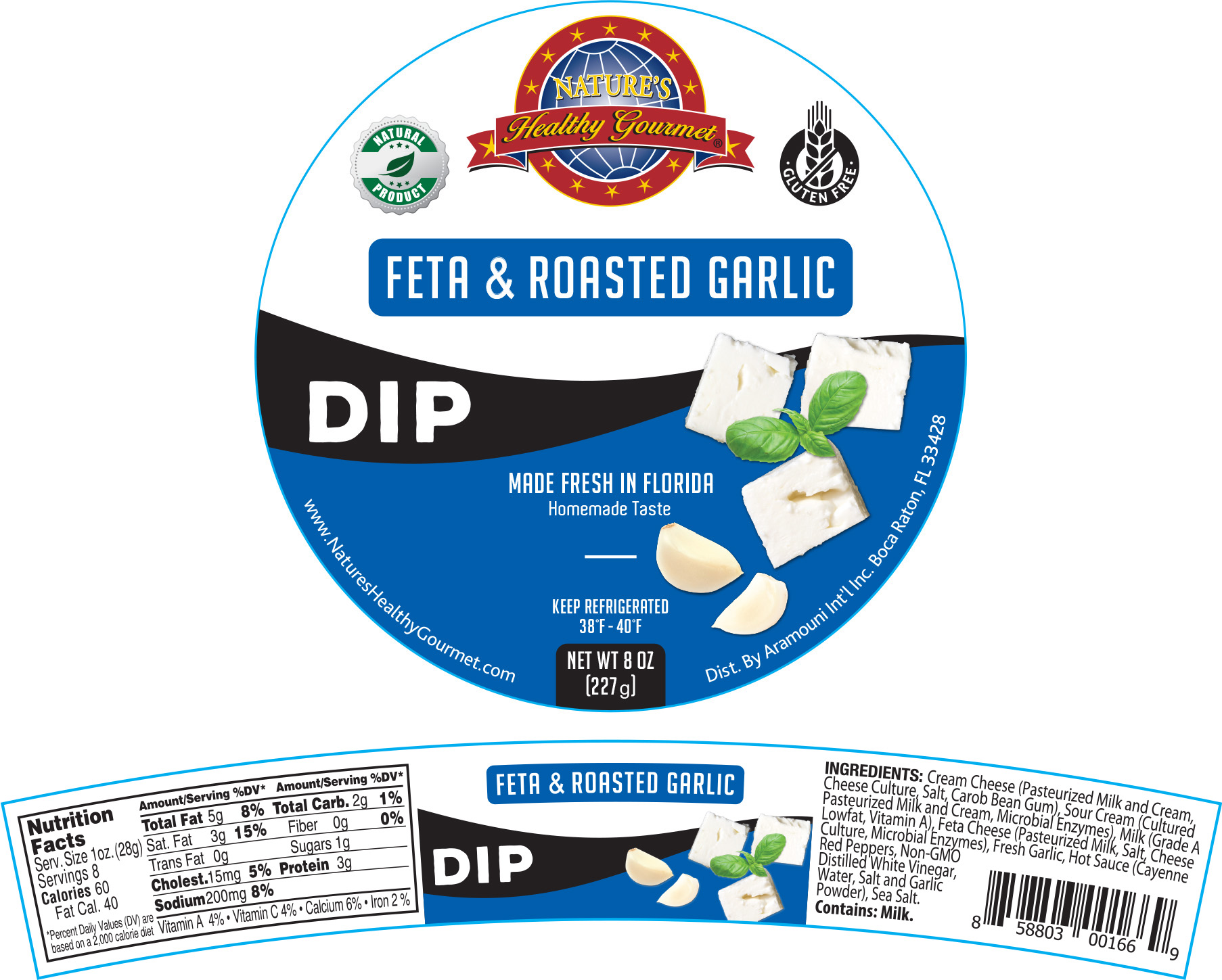 Nature's Feta Roasted Garlic Dip