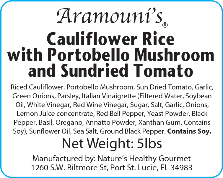 Portebello Mushroom Cauliflower Rice - Label