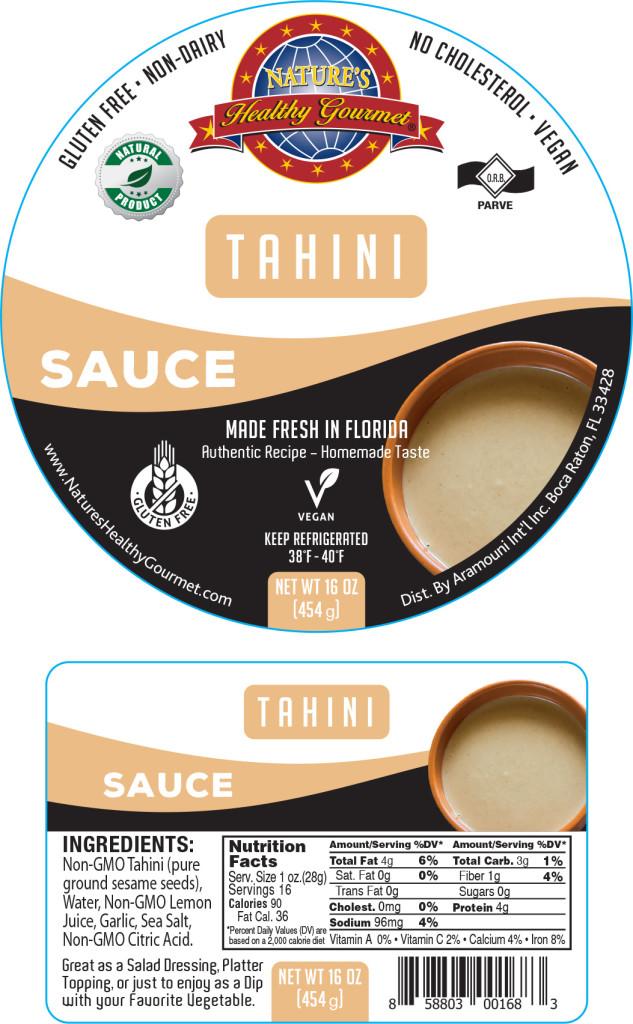 Tahini Sauce Label