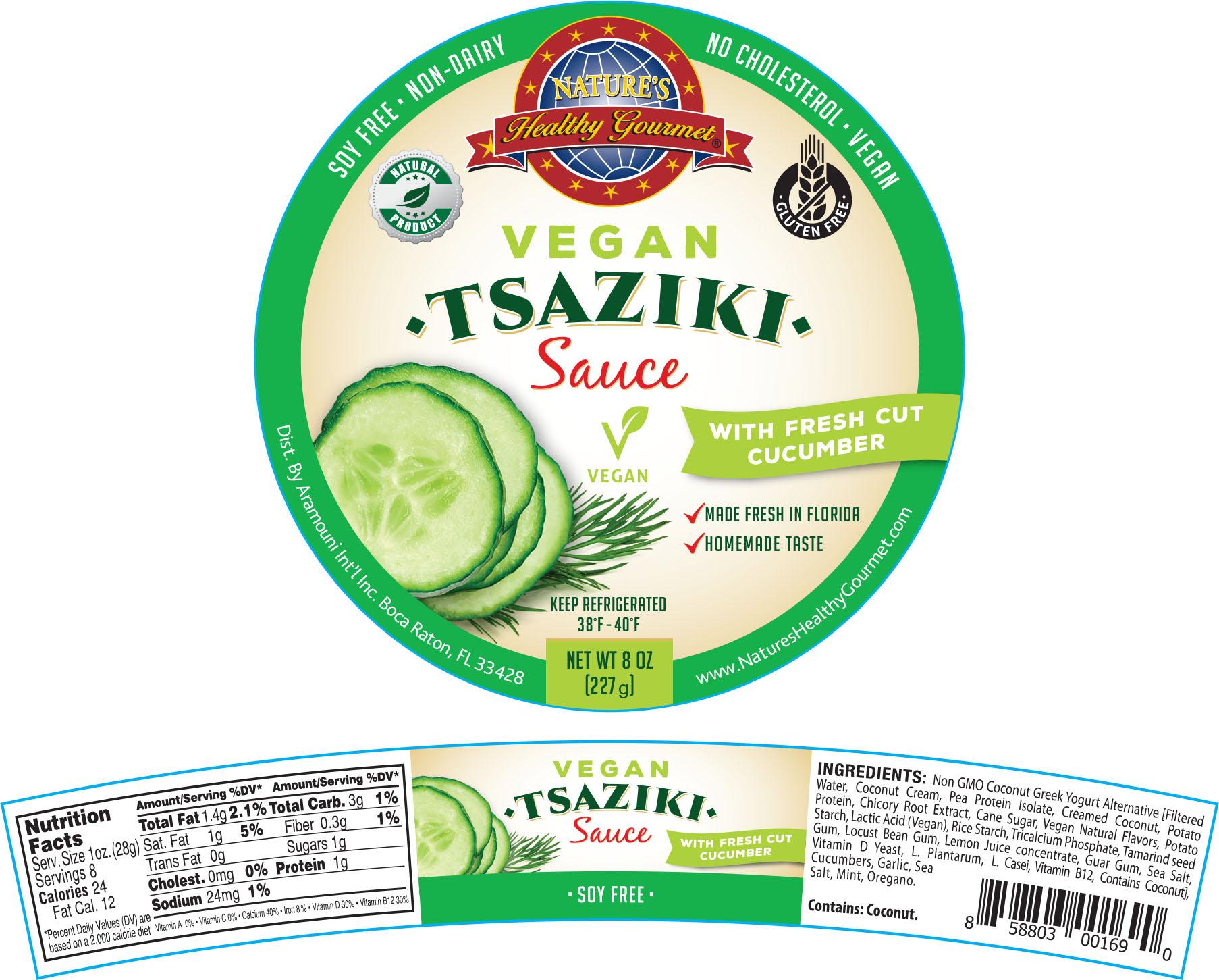 Nature's Vegan Tsaziki Sauce